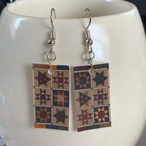 Jewelry - Quilt pattern earrings